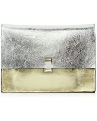 Proenza Schouler Large Metallic Leather Lunch Bag - Lyst