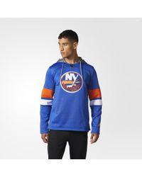adidas - Islanders Jersey Replica Pullover Hoodie - Lyst