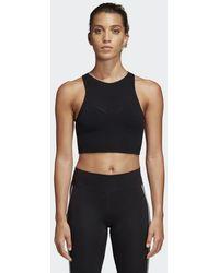 ebd644641923a1 Lyst - adidas Warp Knit Crop Top in Orange