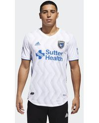 adidas - San Jose Earthquakes Away Authentic Jersey - Lyst