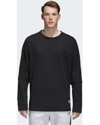1eb13b6b adidas Nmd Black Long-sleeve T-shirt - Mens M in Black for Men - Lyst