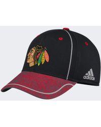 b11157dd494 Lyst - Adidas Blackhawks Two-tone Snapback Hat in Gray for Men