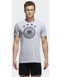 adidas - Germany Brushed Stripes Tee - Lyst