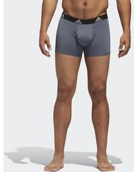 b42e0eaf8fc8 Lyst - adidas Climalite Trunks 2 Pairs in Blue for Men