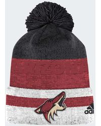 b6331e374 Lyst - Adidas Canadiens Team Cuffed Pom Beanie in Red for Men