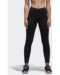 0795052875bed Lyst - adidas Essentials Linear Tights in Gray - Save 40%