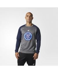 adidas - New York City Fc Ultimate Crew Sweatshirt - Lyst