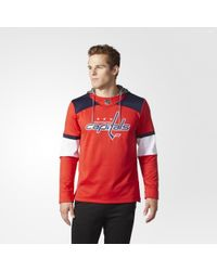 adidas - Capitals Jersey Replica Pullover Hoodie - Lyst