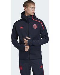 adidas FC Bayern München Z.N.E. Hoodie - Blau