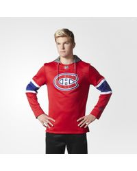 adidas - Canadiens Jersey Replica Pullover Hoodie - Lyst