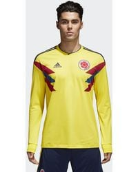 bb7ecad12 adidas Originals Colombia 1990 Jersey in Yellow for Men - Lyst