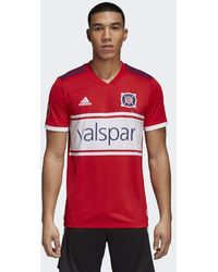 pretty nice 9be2f 2f94a adidas Chicago Fire Away Authentic Jersey in Gray for Men - Lyst