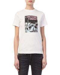 ALEXACHUNG - Lonesome Tonight White T-shirt - Lyst