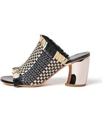 Proenza Schouler - Woven Fringed Curved Heel Sandal - Lyst