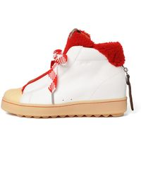 COACH - White High Top Hiker With Shearling - Lyst