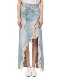 R13 - Harrow Denim Long Skirt - Lyst