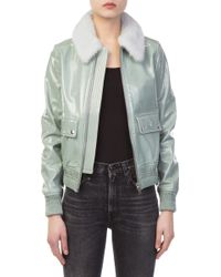 Meteo by Yves Salomon - Adriatic Blue Leather Bomber - Lyst