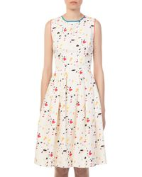 Carolina Herrera - Ivory Multi Printed Dress - Lyst
