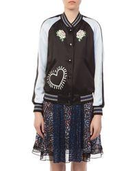 COACH - Coach X Keith Haring Reversible Satin Varsity Jacket - Lyst