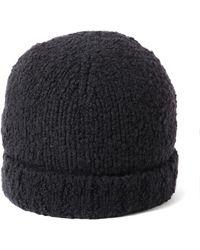 Vince - Textured Beanie Black Hat - Lyst
