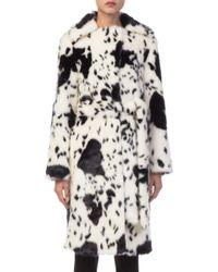 Shrimps - Esme Faux Fur Cow Print Coat - Lyst