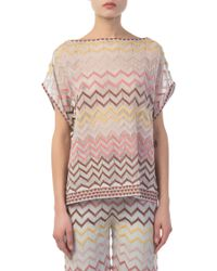 M Missoni - Multicolour Knitted Top - Lyst