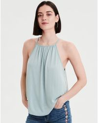 6c780a3bfd5f69 Lyst - American Eagle Soft   Sexy One Shoulder T-shirt in Green
