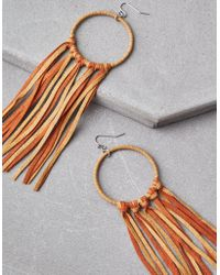 American Eagle - Micro Suede Duster Hoop Earrings - Lyst