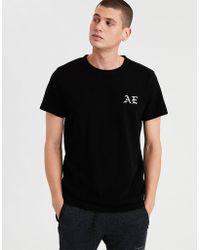 American Eagle - Ae Embroidered Graphic Tee - Lyst