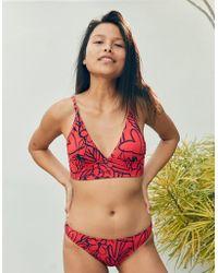 a0fdeb4e3d661 American Eagle Pique Longline Triangle Bikini Top in Blue - Save 29 ...