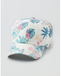 f75238dec9a American Eagle - Ae Tropical Florals Baseball Hat - Lyst