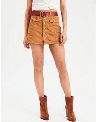3999f5409a01 American Eagle - Ae High-waisted Festival Denim Skirt - Lyst