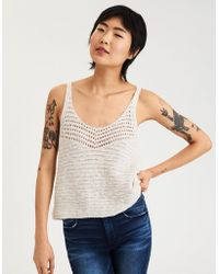 American Eagle - Ae Textured Tank Top - Lyst