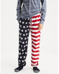 American Eagle - Ae Americana Flannel Pj Pant - Lyst