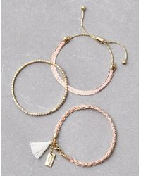 American Eagle - Blush Arm Party Bracelets - Lyst
