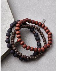 American Eagle - Black & Brown Bead Bracelet Set - Lyst