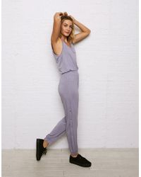 American Eagle - Don't Ask Why Side Snap Jumpsuit - Lyst