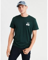 American Eagle - Ae Branded Graphic Tee - Lyst