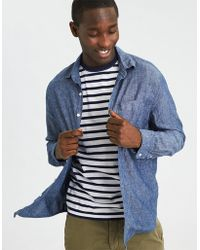 American Eagle - Ae Chambray Linen Button-down Shirt - Lyst