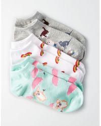 American Eagle - Novelty Shortie Socks 3-pack - Lyst