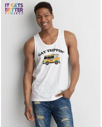 American Eagle - Pride Gay Trippin' Graphic Tank - Lyst