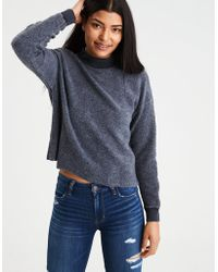 American Eagle | Ae Inside-out Zip-shoulder Sweatshirt | Lyst