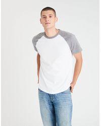 American Eagle - Ae Raglan Colorblock T-shirt - Lyst