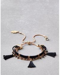 American Eagle - Black Tassel Arm Party Bracelet - Lyst