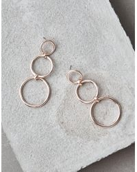 American Eagle - Triple Statement Hoop Earrings - Lyst
