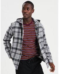 American Eagle - Ae Flannel Hooded Shirt - Lyst