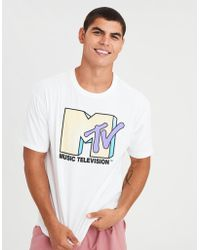 American Eagle - Ae X Mtv Graphic Tee - Lyst