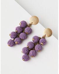 American Eagle - Purple Seed Bead Cluster Earring - Lyst