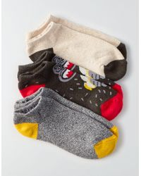 American Eagle - Ae Low Cut Monkey Socks 3-pack - Lyst