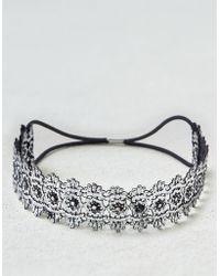 American Eagle - Metallic Silver Lace Headband - Lyst